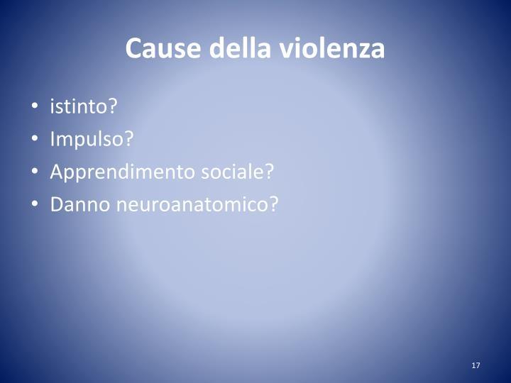 Cause della violenza