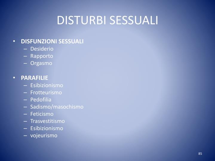 DISTURBI SESSUALI