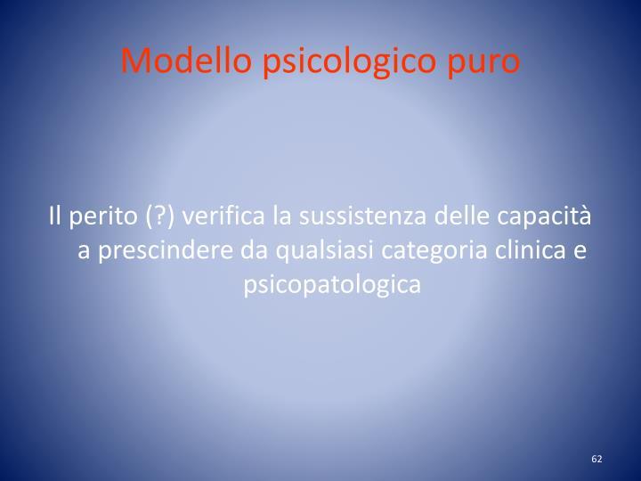 Modello psicologico puro