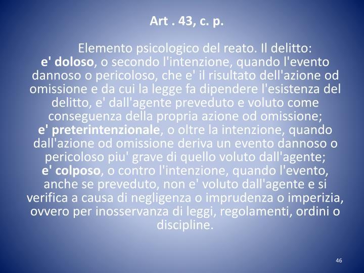 Art . 43, c. p.