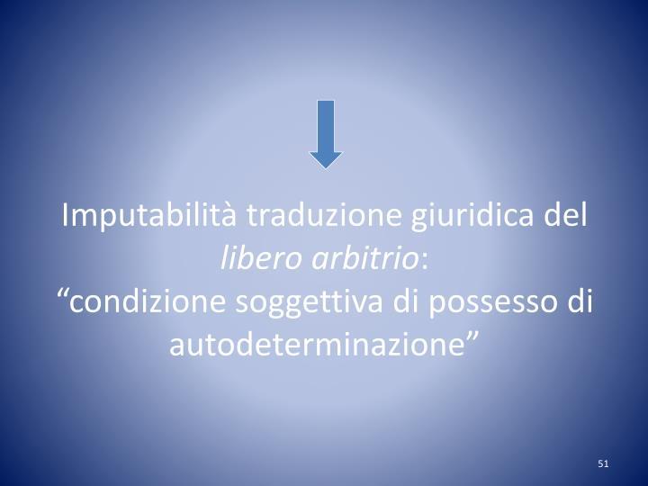 Imputabilità traduzione giuridica del