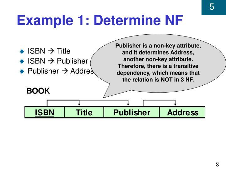 Example 1: Determine NF