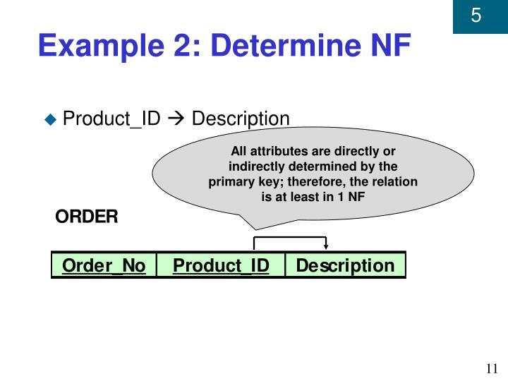 Example 2: Determine NF