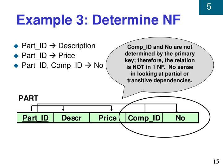 Example 3: Determine NF