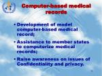 computer based medical records