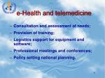 e health and telemedicine