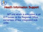 health information support
