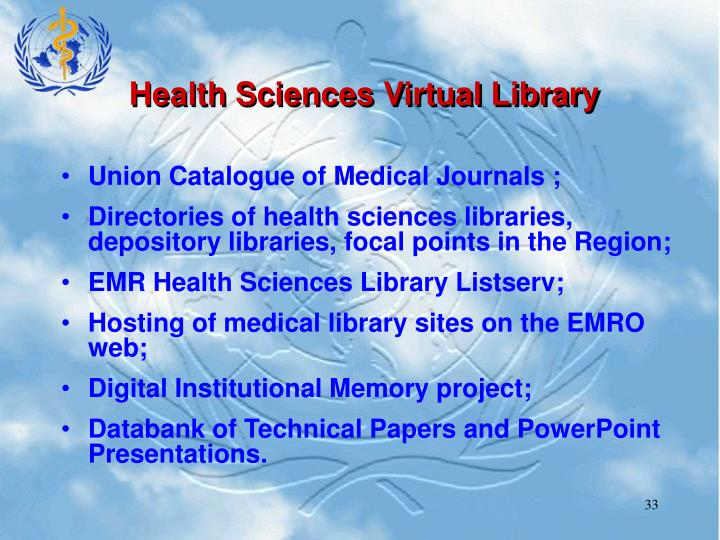 Health Sciences Virtual Library