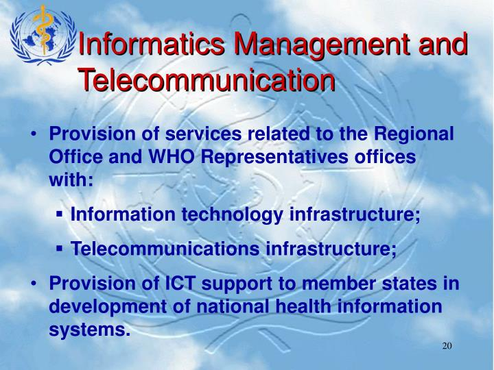 Informatics Management and Telecommunication