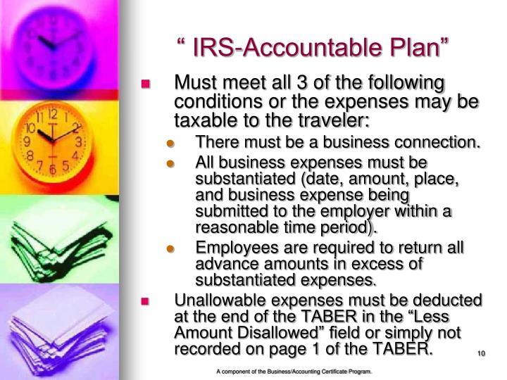""" IRS-Accountable Plan"""