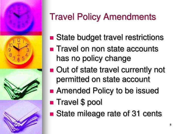 Travel Policy Amendments