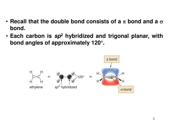Recall that the double bond consists of a