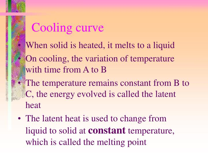 Cooling curve