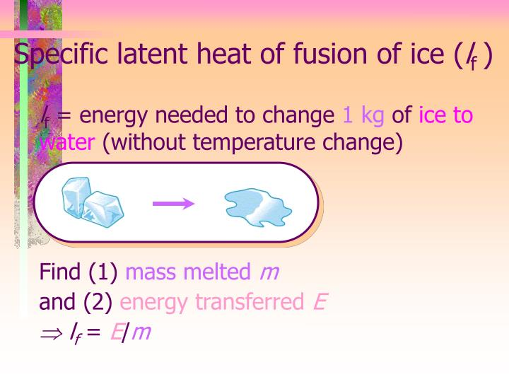 Specific latent heat of fusion of