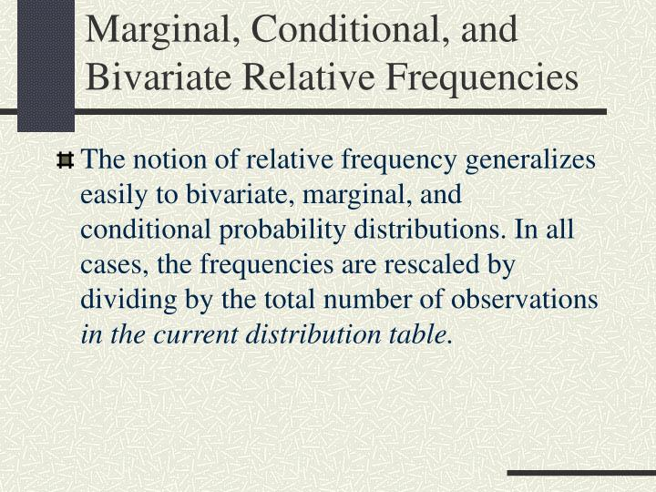 how to find relative frequency marginal distribution