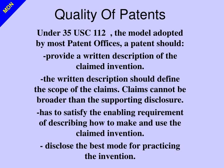 Quality Of Patents