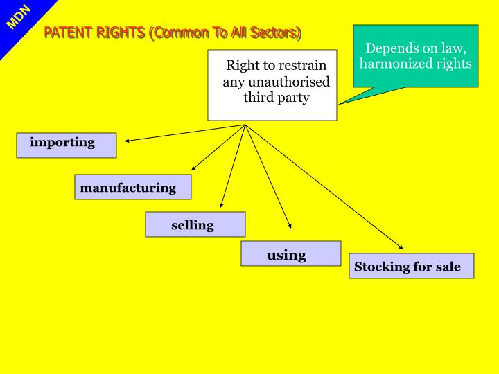 PATENT RIGHTS (Common To All Sectors)
