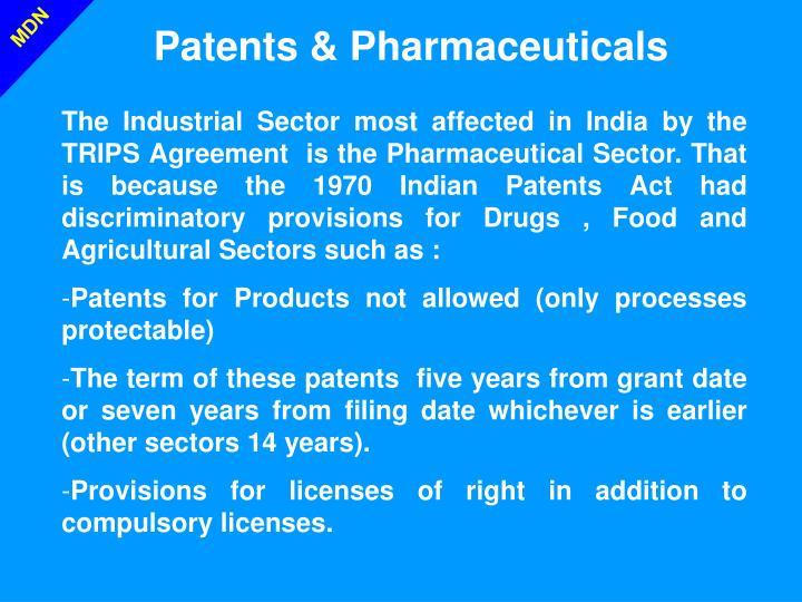 Patents & Pharmaceuticals