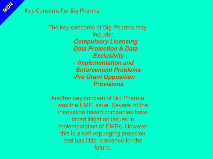 Key Concerns For Big Pharma