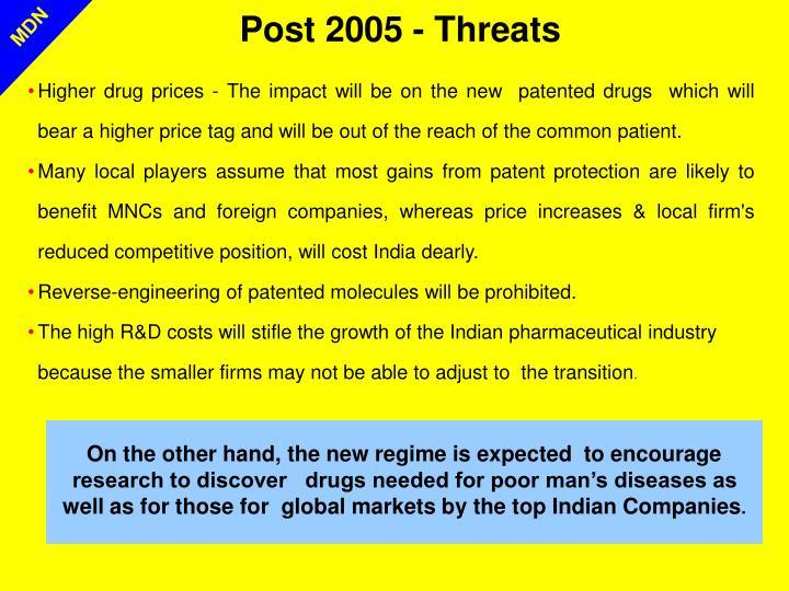 Post 2005 - Threats