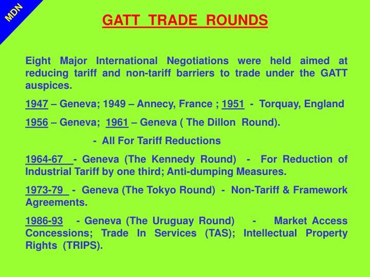 GATT  TRADE  ROUNDS