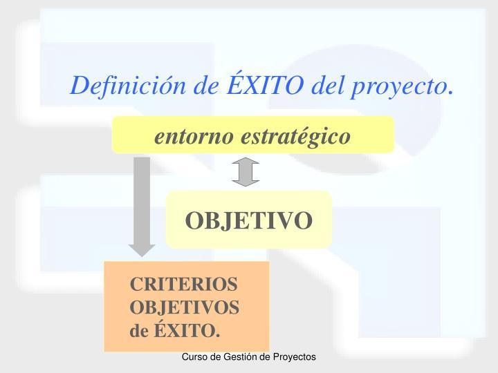 Definición de ÉXITO del proyecto