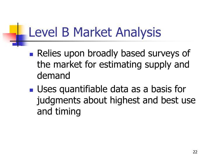 Level B Market Analysis