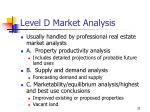 level d market analysis
