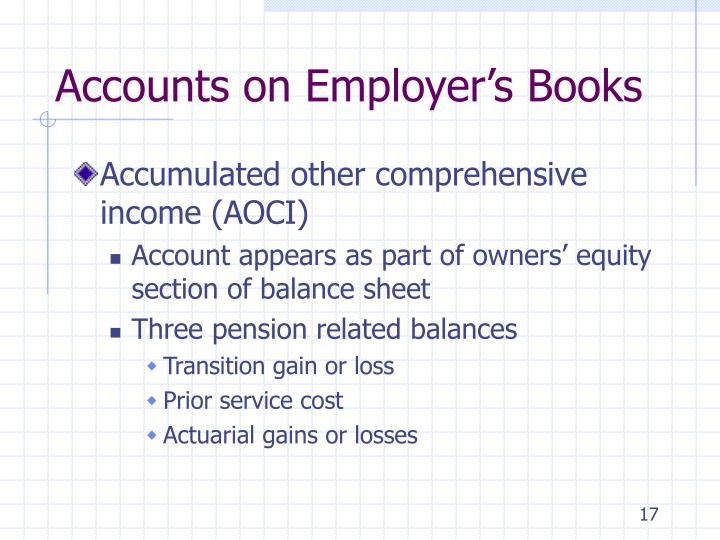 Accounts on Employer's Books