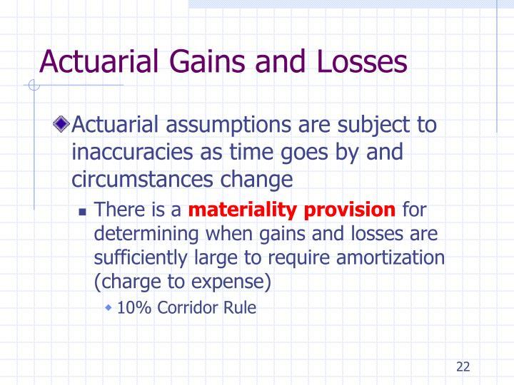 Actuarial Gains and Losses