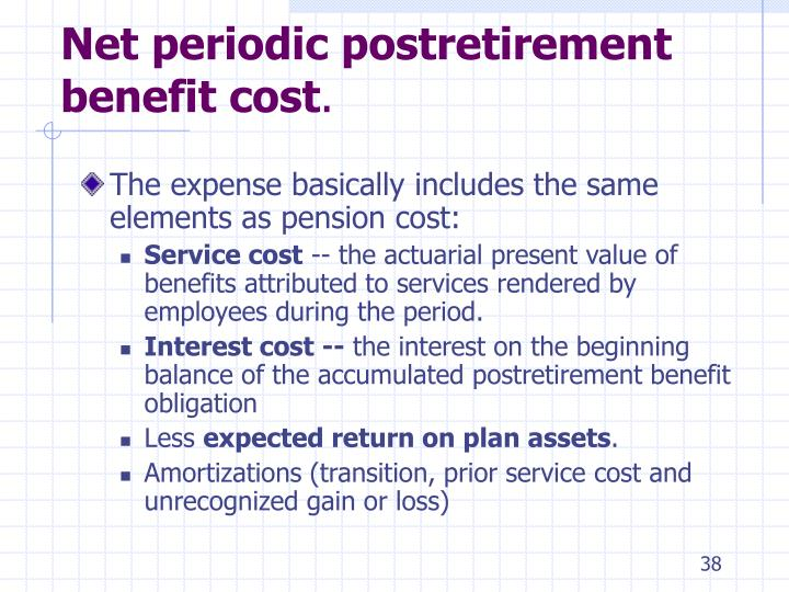 Net periodic postretirement benefit cost