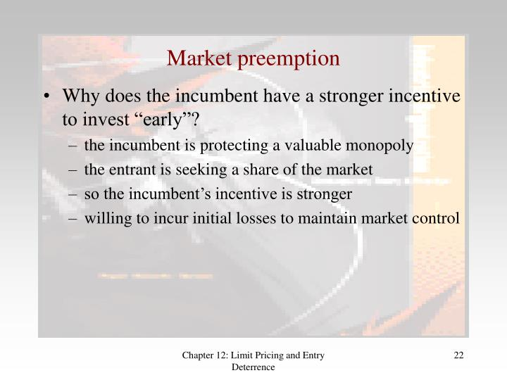 Market preemption