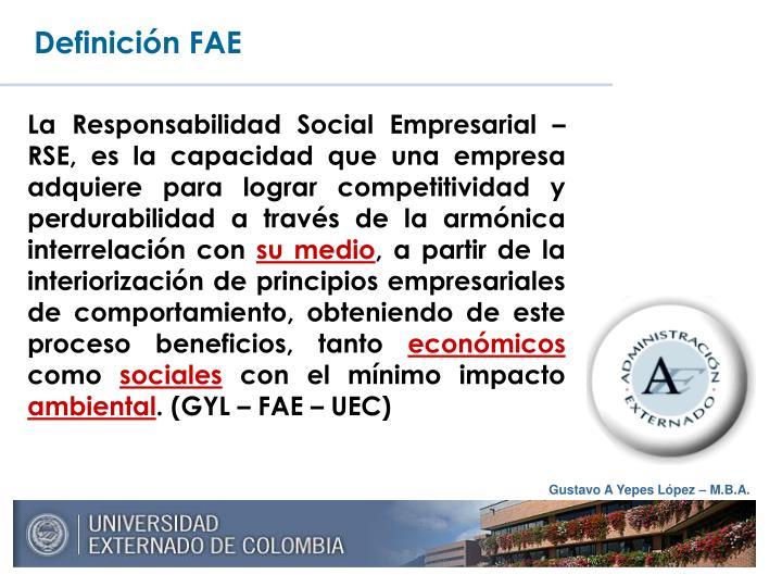 Definición FAE