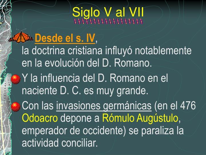 Siglo V al VII