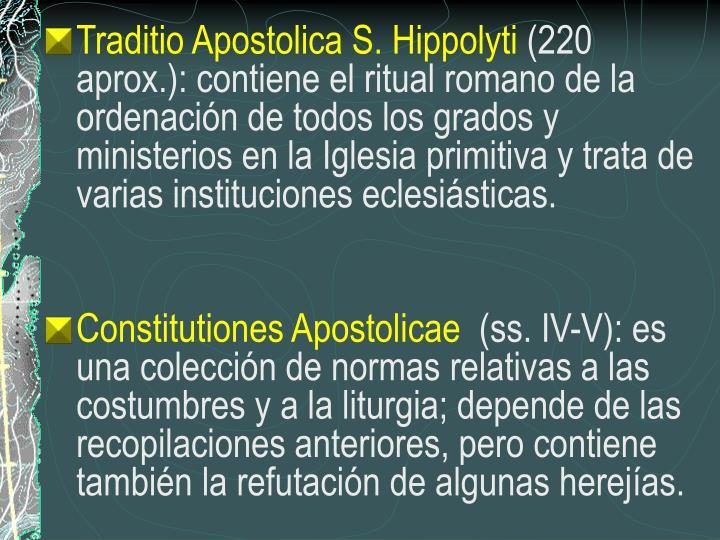 Traditio Apostolica S. Hippolyti