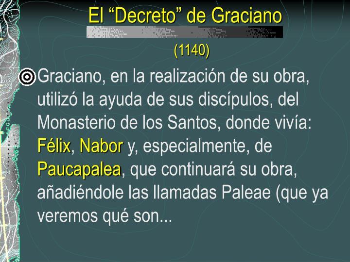 """El """"Decreto"""" de Graciano"""