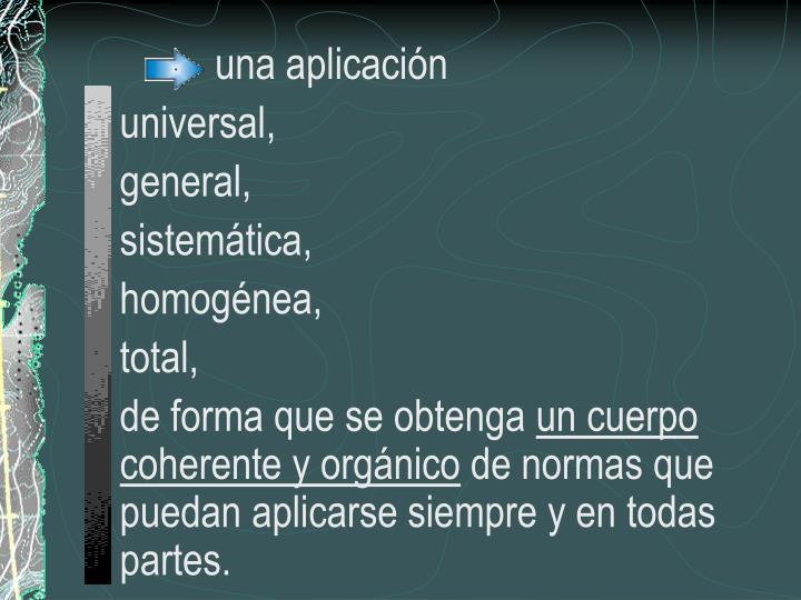 una aplicación
