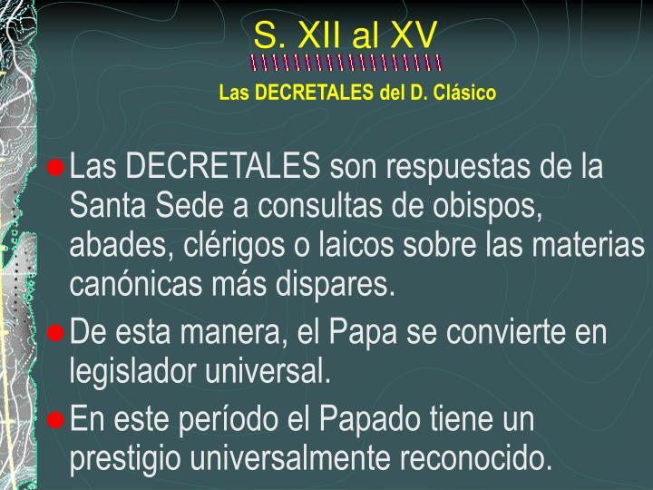 S. XII al XV