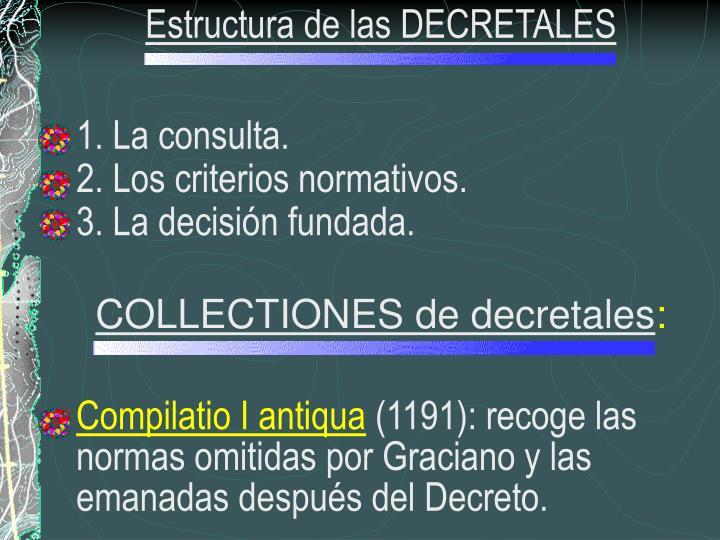 Estructura de las DECRETALES