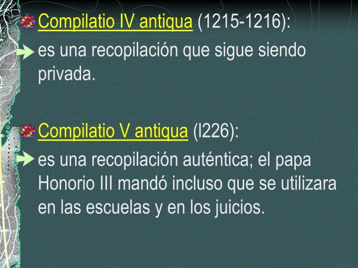 Compilatio IV antiqua