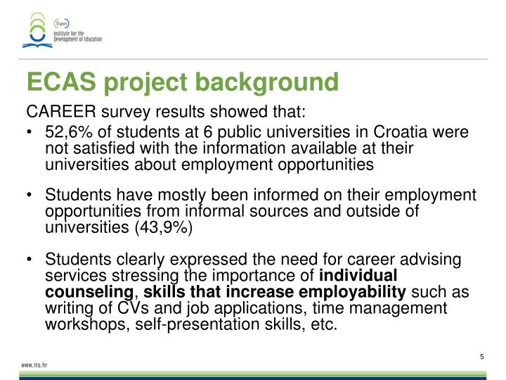 ECAS project background