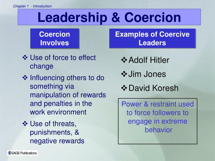 Use of force to effect change