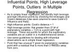 influential points high leverage points outliers in multiple regression