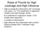 rules of thumb for high leverage and high influence