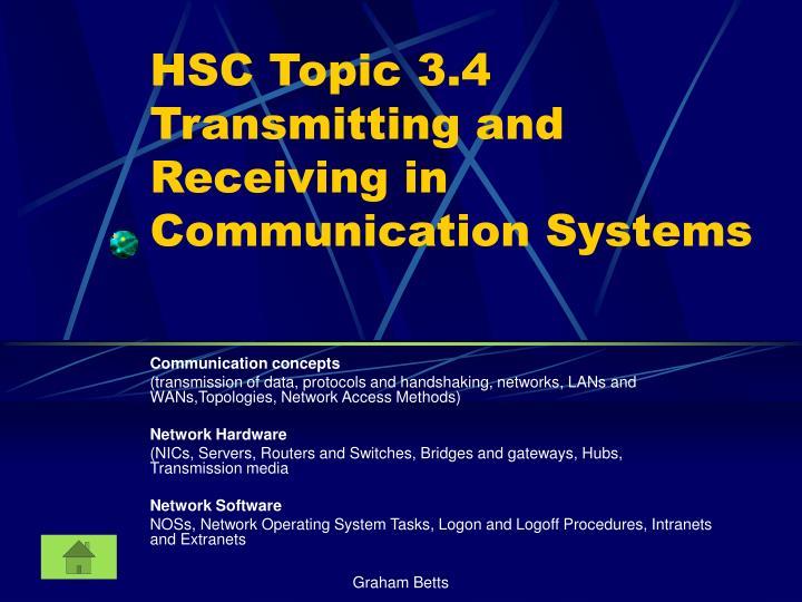 HSC Topic 3.4