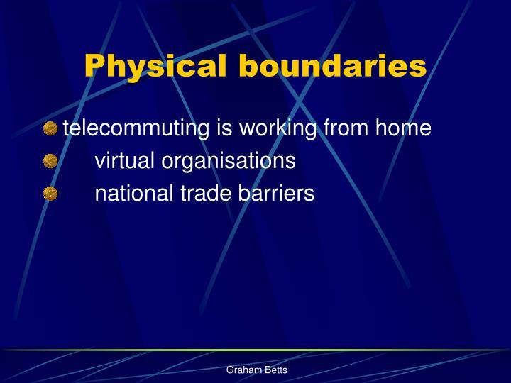 Physical boundaries
