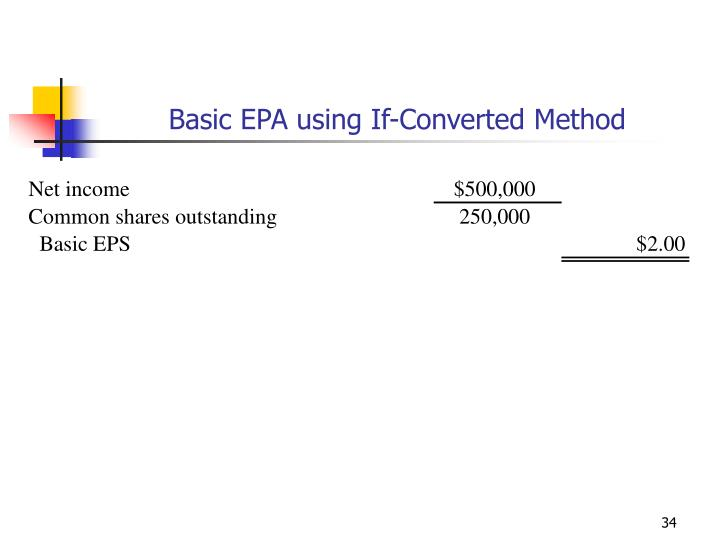 Basic EPA using If-Converted Method