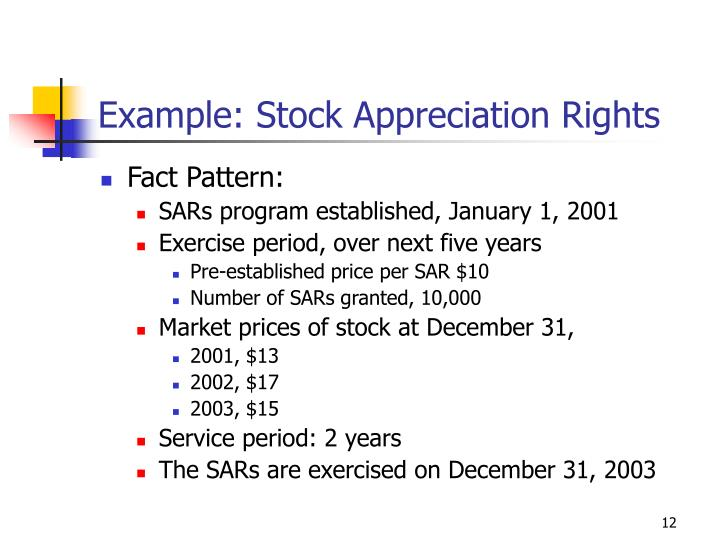 Example: Stock Appreciation Rights