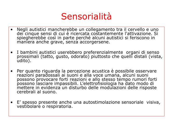 Sensorialità
