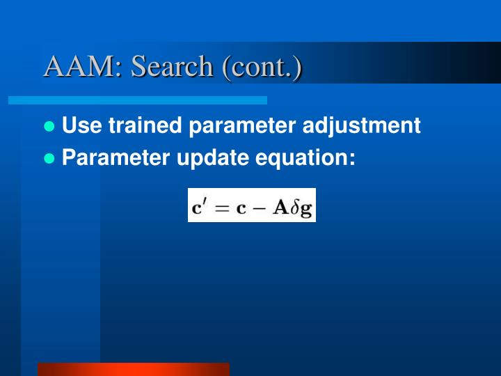 AAM: Search (cont.)